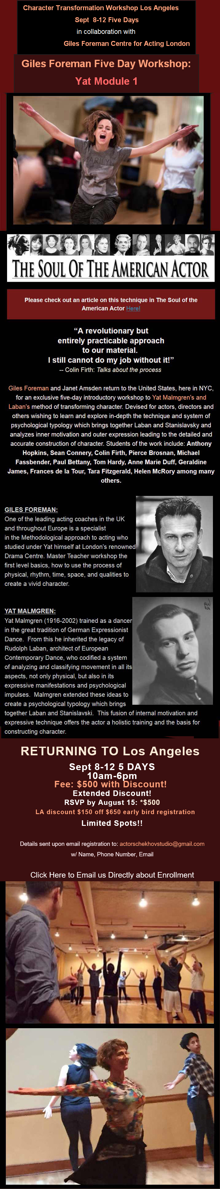 Actors Movement Studio Conservatory, Actor training, Summer Acting ...